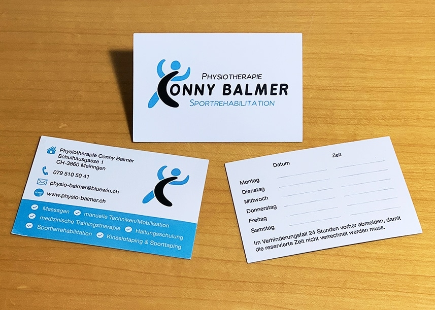 Physiotherapie Conny Balmer De Mediadesign