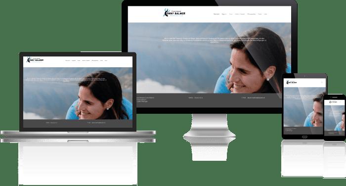 Vorschau der Desktop, Notebook, Tablet und Mobil Webseite von Physiotherapie Conny Balmer