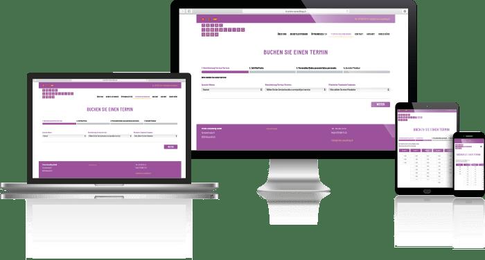 Vorschau der Desktop, Notebook, Tablet und Mobil Webseite von Prime Consulting GmbH